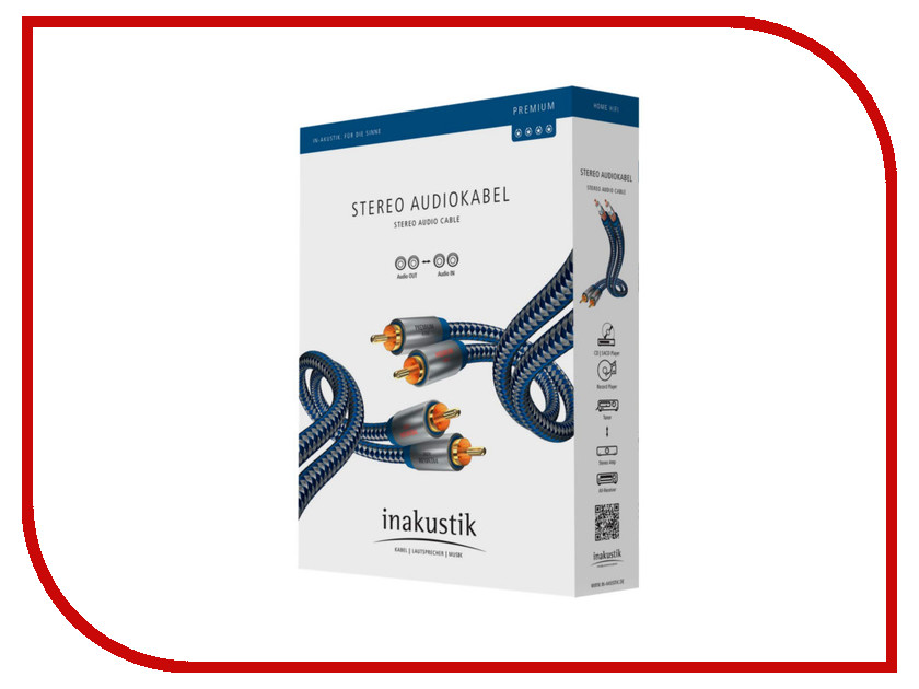 Аксессуар Inakustik Premium Audio Cable RCA 5m 0040405