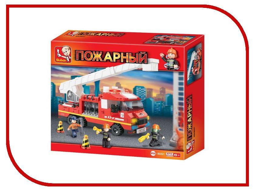 Конструктор Sluban Пожарная машина 2 в 1 22914 служба спасения sluban