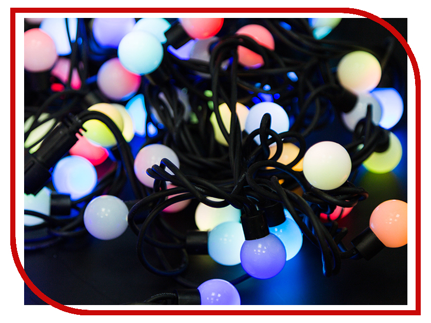 Гирлянда Neon-Night Мультишарики 17.5mm 20m RGB 303-509 гирлянда neon night мультишарики d 13мм 20м черный пвх 200led rgb 303 509 1