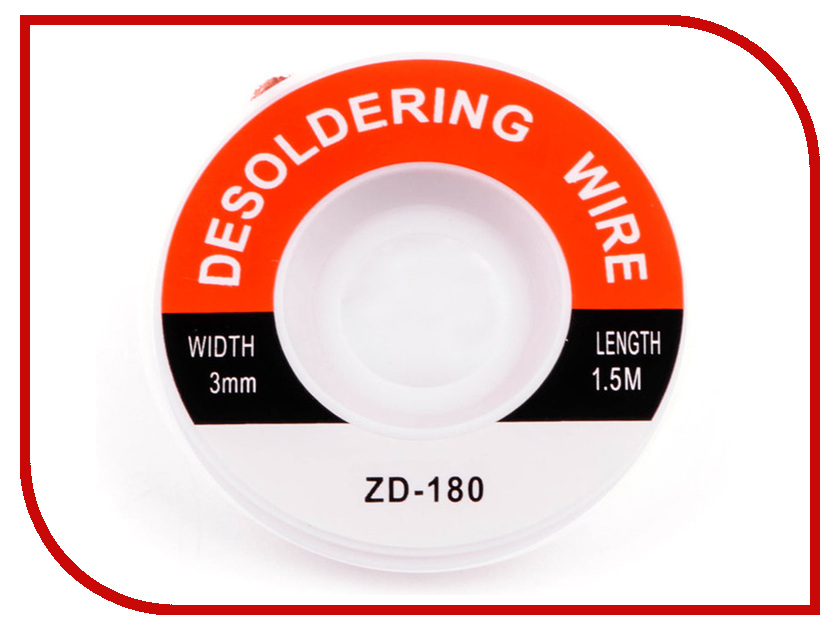 Плетенка для снятия припоя Zhongdi ZD-180 0.3x150cm цены онлайн