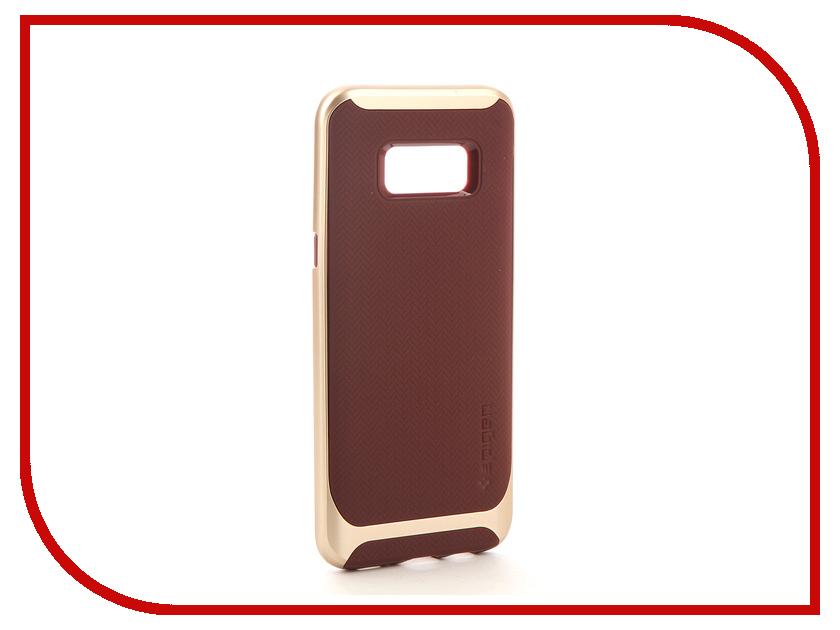 Аксессуар Чехол Spigen Samsung Galaxy S8+ Neo Hybrid Burgundy 571CS21649 защитное стекло spigen glas t nano slim для samsung galaxy s5 sgp10726