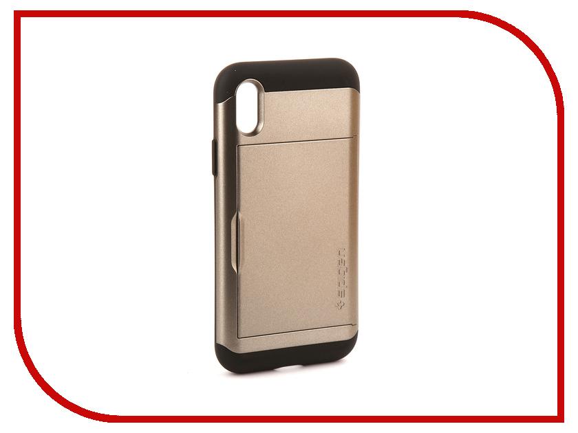 Аксессуар Чехол Spigen Slim Armor CS для APPLE iPhone X Steel 057CS22156 чехол накладка чехол накладка iphone 6 6s 4 7 lims sgp spigen стиль 1 580075