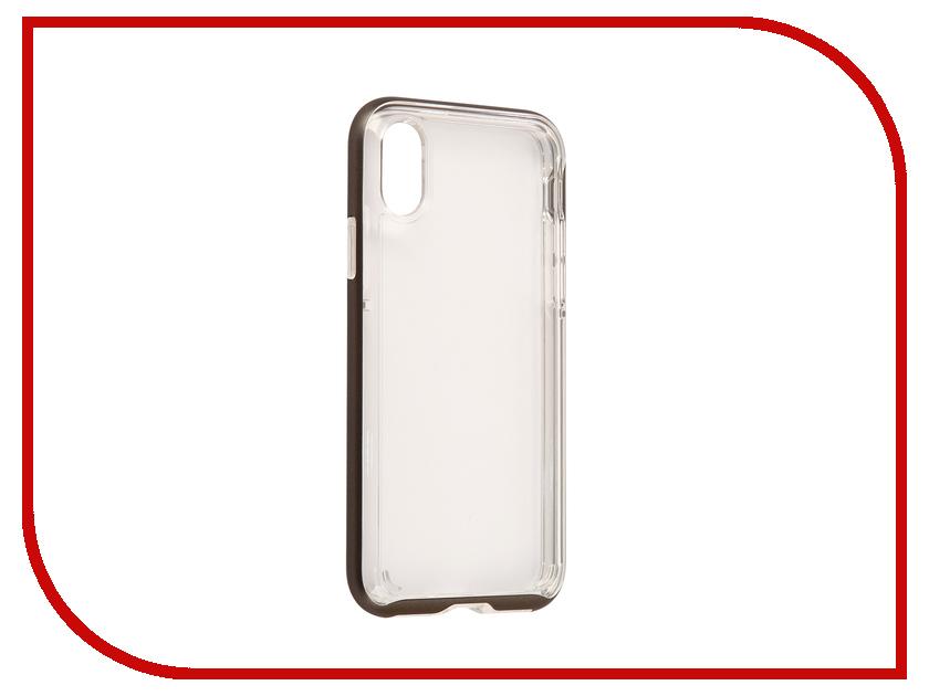 Аксессуар Чехол Spigen Neo Hybrid Crystal для APPLE iPhone X Steel 057CS22172 lofter happy zoo pattern protective pu pc case w stand for ipad air white brown multicolor