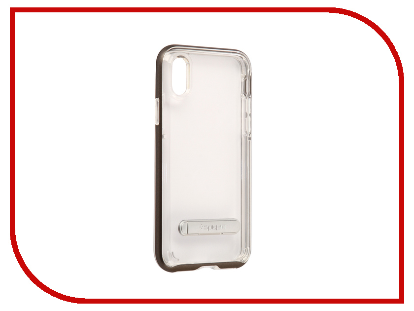 Аксессуар Чехол Spigen Crystal Hybrid для APPLE iPhone X Steel 057CS22144 spigen hybrid armor 042cs20840 чехол для iphone 7 black onix