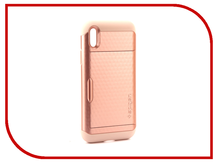 Аксессуар Чехол Spigen Crystal Wallet для APPLE iPhone X Pink-Gold 057CS22152