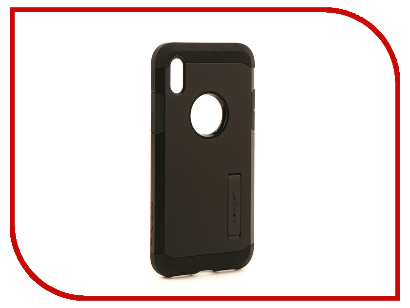 Аксессуар Чехол Spigen Tough Armor для APPLE iPhone X Matte-Black 057CS22160 аксессуар чехол spigen thin fit для apple iphone 7 black 042cs20427