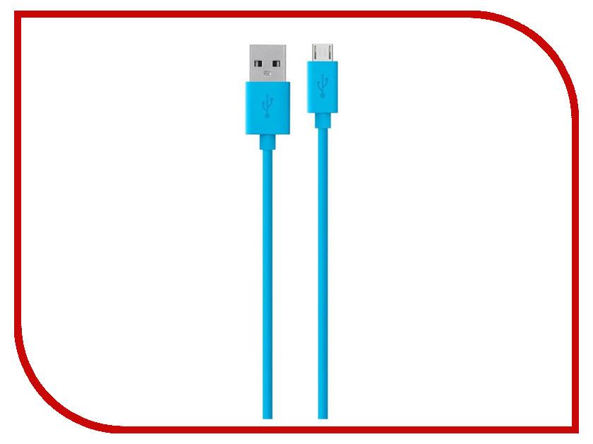 Аксессуар Belkin USB to Micro USB Cable 2.0m Blue F2CU012bt2M-BLU belkin wemo