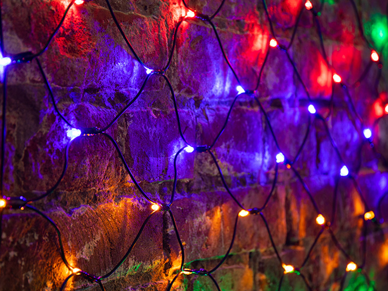 Гирлянда Neon-Night Сеть 1x1.5m 160 LED Multicolor 215-119