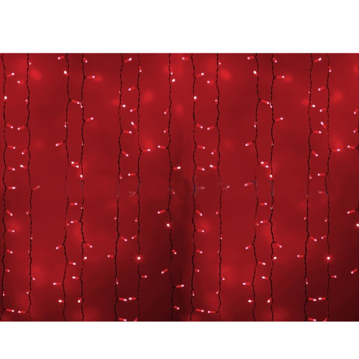 Гирлянда Neon-Night Светодиодный Дождь 2x1.5m 360 LED Red 235-112