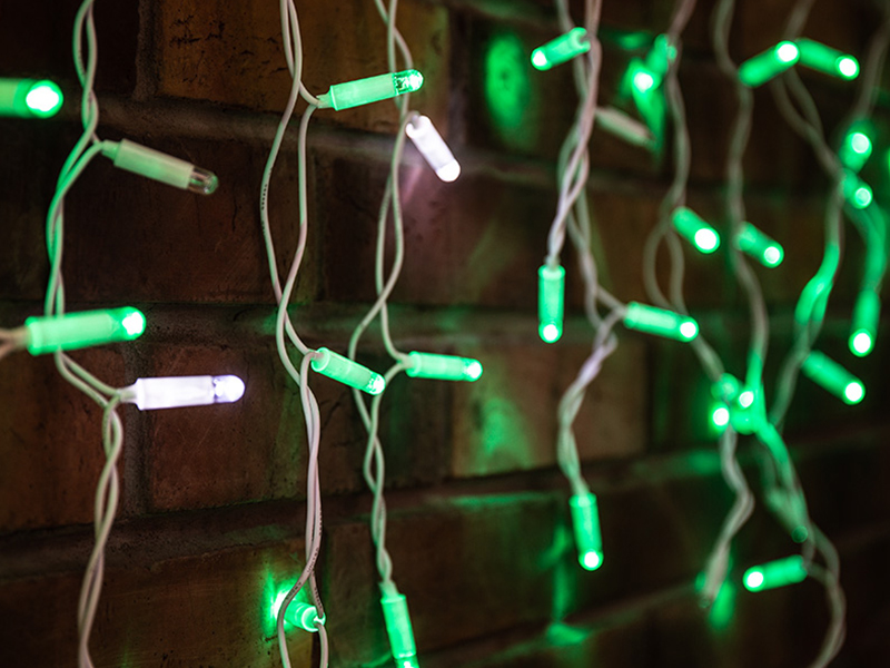 Гирлянда Neon-Night Айсикл 4.8x0.6m 176 LED Green 255-164