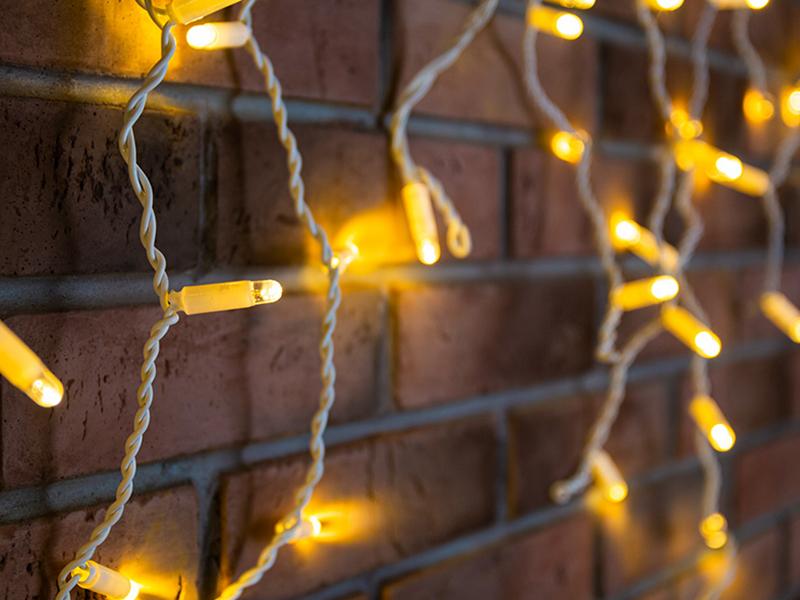 Гирлянда Neon-Night Айсикл 4.8x0.6m 176 LED Warm-White 255-138