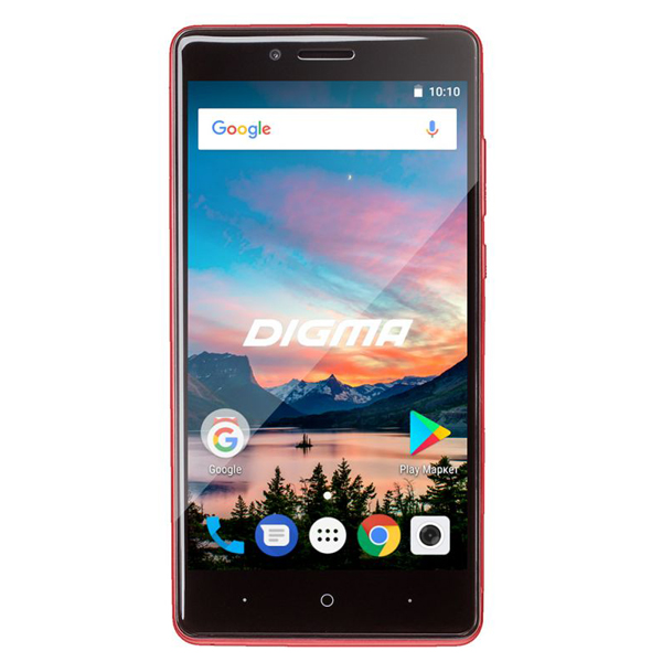 Сотовый телефон Digma HIT Q500 3G Dark Red смартфон digma hit q500 3g 8gb 1gb black