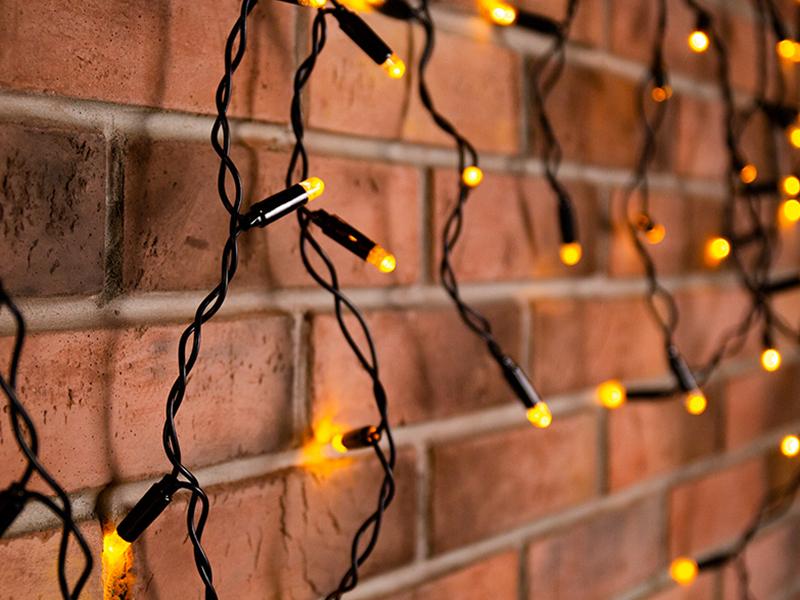 Гирлянда Neon-Night Айсикл 4.8x0.6m 176 LED Warm-White 255-156