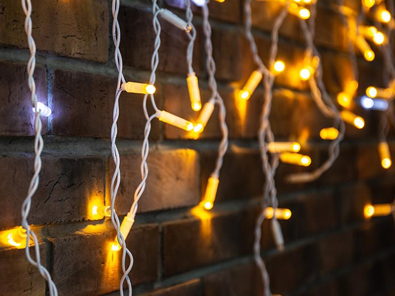 Гирлянда Neon-Night Айсикл 4.8x0.6m 176 LED Yellow 255-161