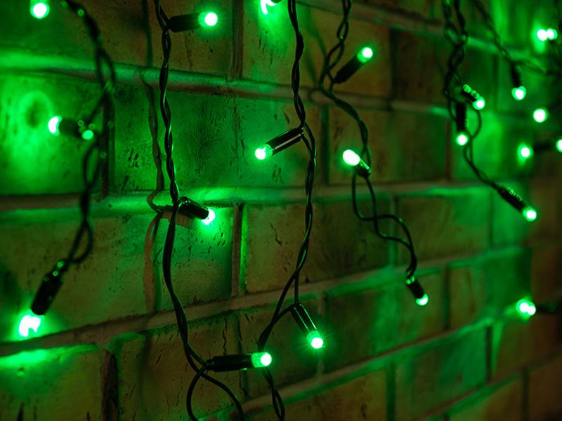 Гирлянда Neon-Night Айсикл 4.8x0.6m 176 LED Green 255-134