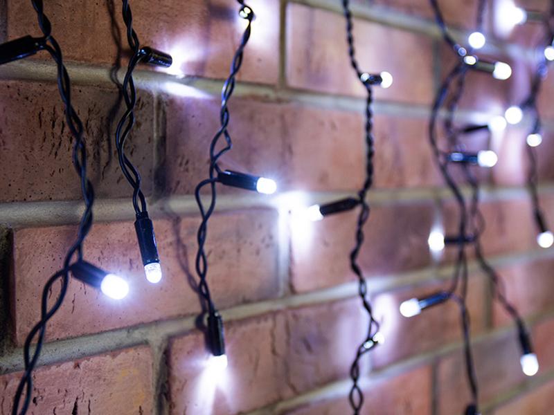 Гирлянда Neon-Night Айсикл 4.8x0.6m 176 LED White 255-135