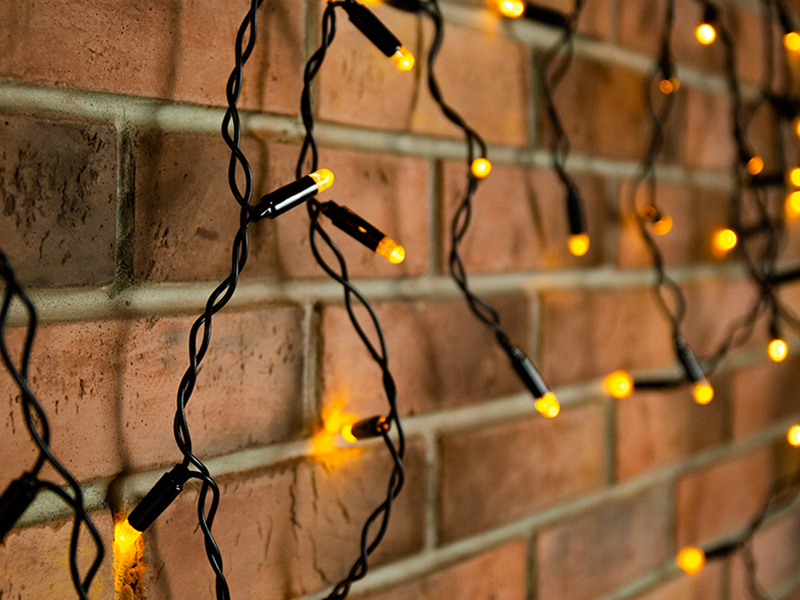 Гирлянда Neon-Night Айсикл 4.8x0.6m 176 LED Yellow 255-131
