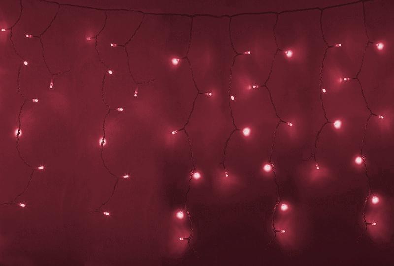 Гирлянда Neon-Night Айсикл 4.8x0.6m 176 LED Red 255-142