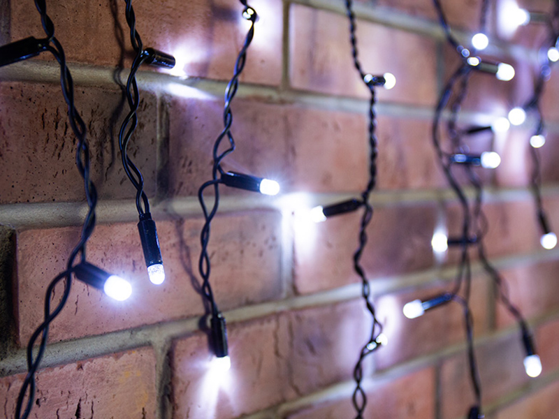 Гирлянда Neon-Night Айсикл 2.4x0.6m 88 LED White 255-032