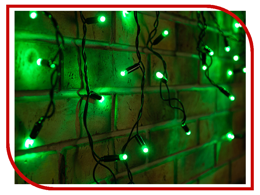Гирлянда Neon-Night Айсикл 2.4x0.6m 88 LED Green 255-044 intimes intimes it 044 lumi green
