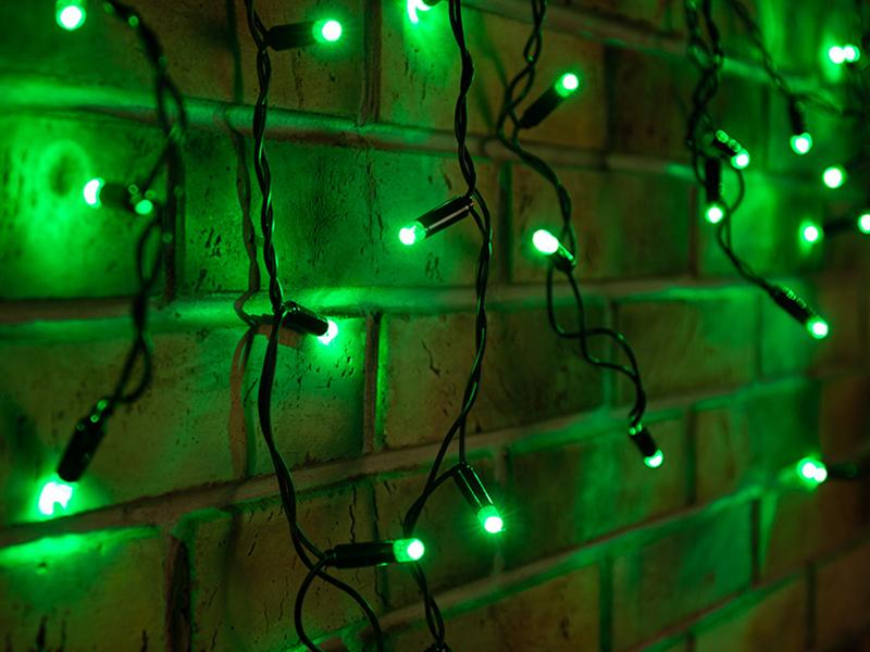 Гирлянда Neon-Night Айсикл 2.4x0.6m 88 LED Green 255-044