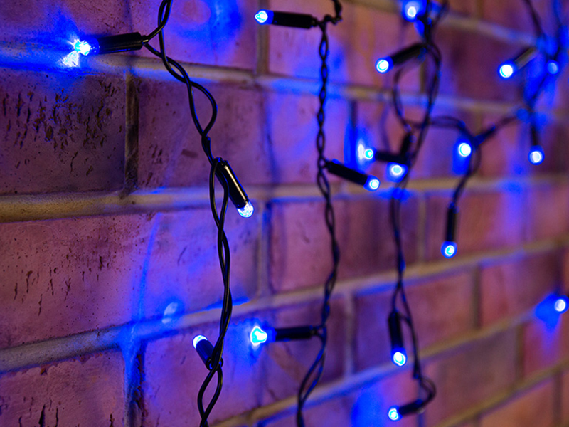 Гирлянда Neon-Night Айсикл 2.4x0.6m 88 LED Blue 255-031