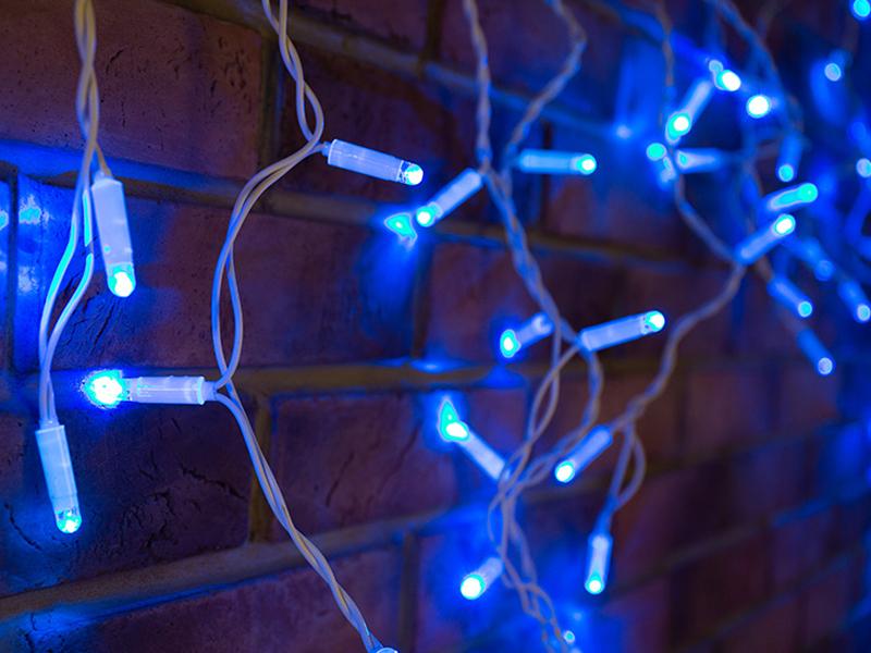 Гирлянда Neon-Night Айсикл 2.4x0.6m 76 LED Blue 255-033-6