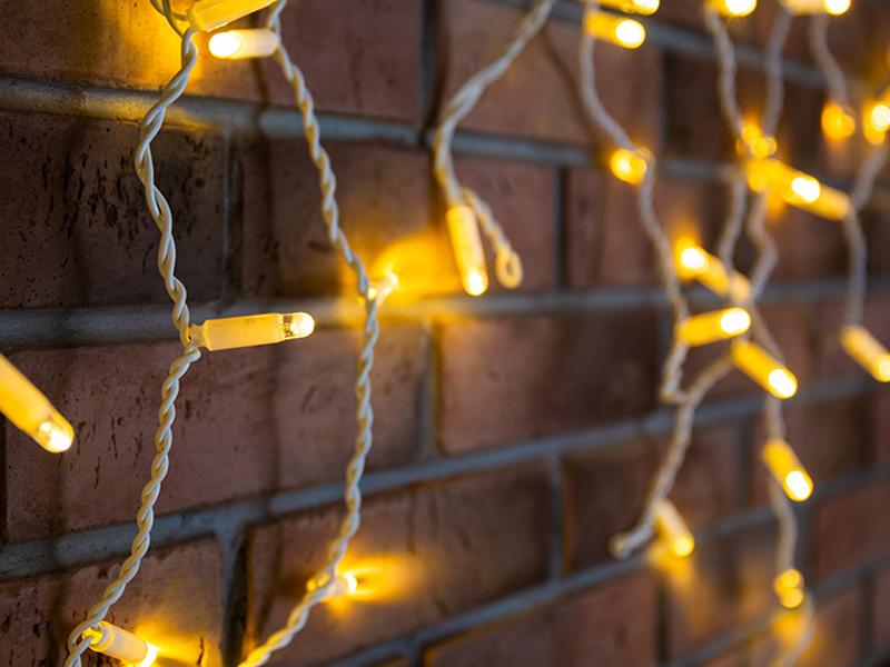 Гирлянда Neon-Night Айсикл 1.8x0.5m 48 LED Warm-White 255-026