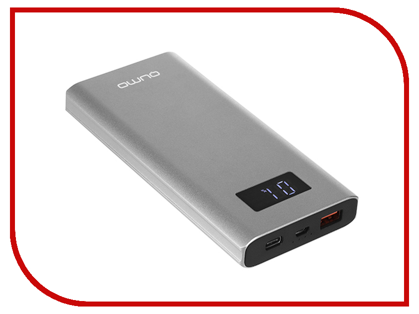 Аккумулятор Qumo PowerAid P10000 QC 3.0 10000mAh Space Grey аккумулятор qumo poweraid p10000 qc 3 0 10000mah black