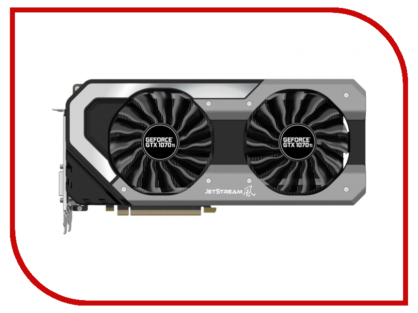 Видеокарта Palit GeForce GTX 1070 Ti JetStream 1607Mhz PCI-E 3.0 8192Mb 8008Mhz 256 bit DPx3 DVI HDMI HDCP NE5107T015P2-1041J видеокарта asus geforce gtx 1060 1506mhz pci e 3 0 6144mb 8008mhz 192 bit dvi 2xhdmi hdcp strix gtx1060 6g gaming