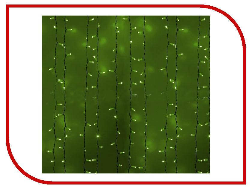 Гирлянда Neon-Night Светодиодный Дождь 2x1.5m 360 LED Green 235-304 гирлянда светодиодная neon night свечение с динамикой светодиодный дождь