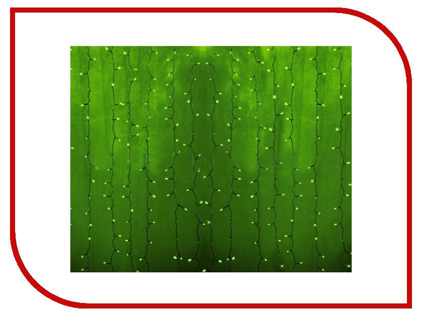 Гирлянда Neon-Night Светодиодный Дождь 2x3m 448 LED Green 235-154-6 гирлянда светодиодная neon night свечение с динамикой светодиодный дождь