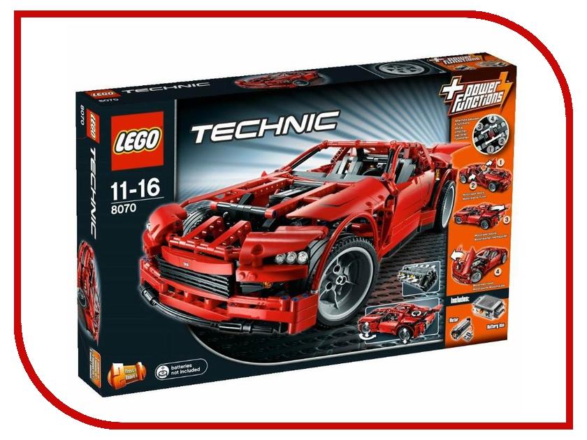 Конструктор Lego Super Car 8070 lepin 20028 technic series super car assembly toy car model building block 1281pcs bricks toys gift for gift 8070