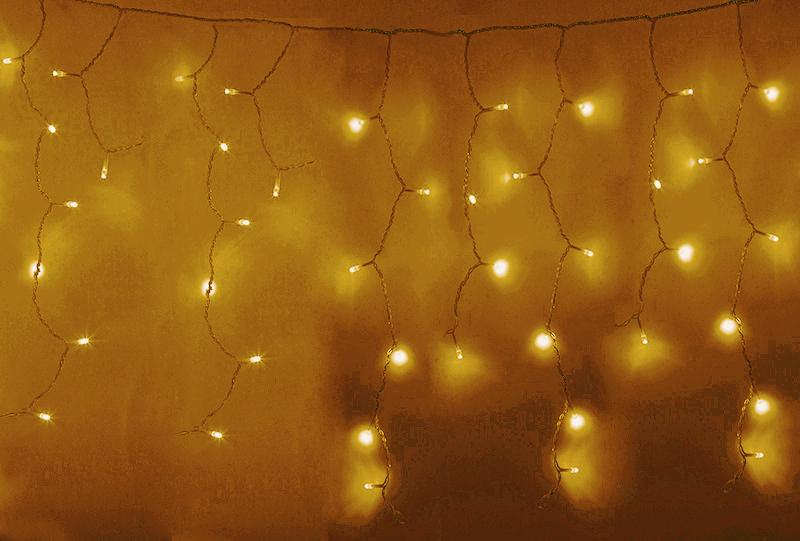 Гирлянда Neon-Night Айсикл 4.8x0.6m 176 LED Gold 255-147