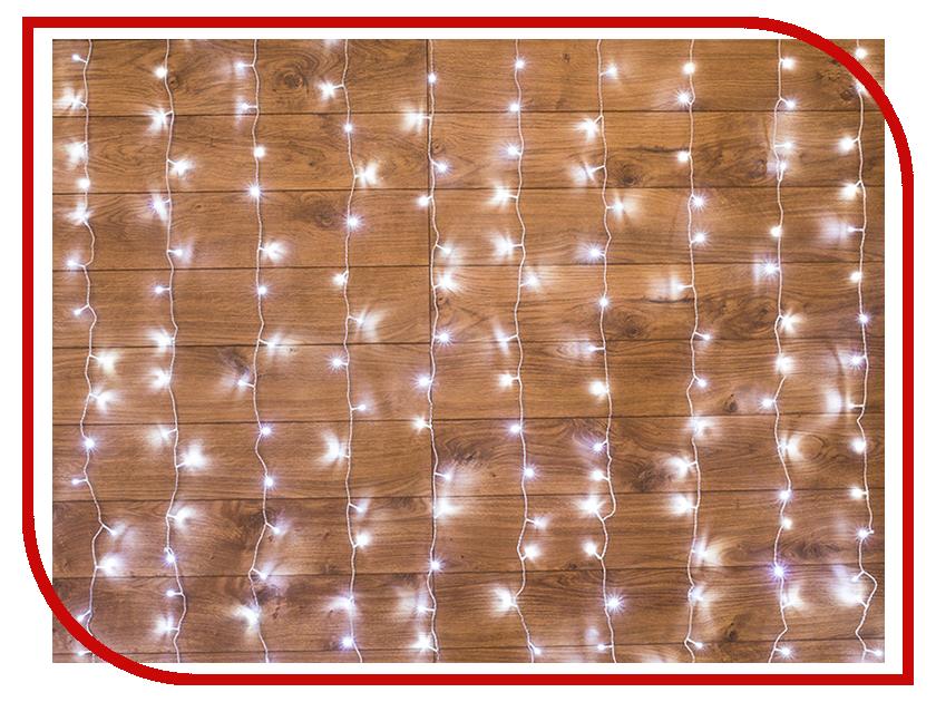 Гирлянда Neon-Night Светодиодный Дождь 2.5x2m 300 LED White 235-055 1 2w 100lm 6000k 8 led white light usb reading camping night lamp white