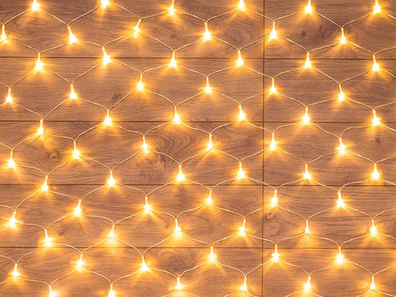 Гирлянда Neon-Night Сеть 1.5x1.5m 150 LED Warm-White 215-126