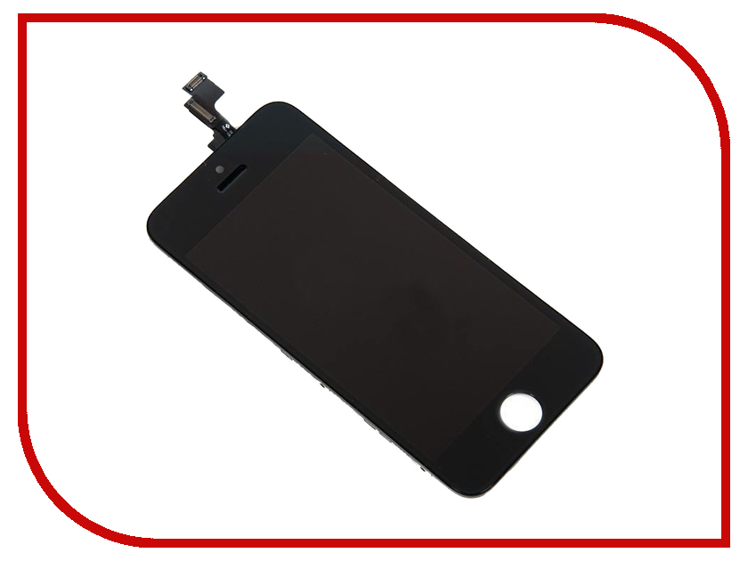 Дисплей RocknParts Zip для iPhone 5S Black 342079 дисплей monitor lcd for iphone 5s white