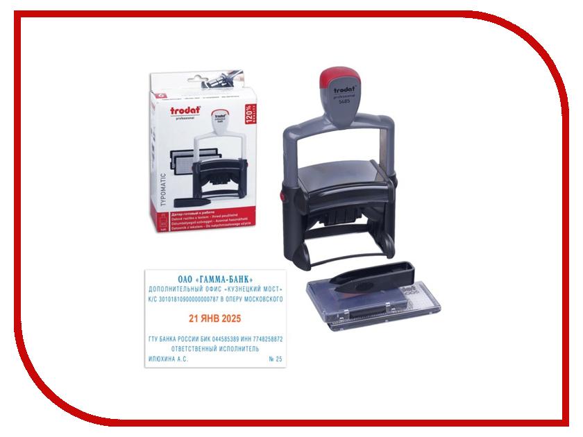 Штамп самонаборный Trodat 5485 68x47mm Blue-Red 231038 штамп самонаборный trodat 5 строчный 4913 db 2 кассы пластик 58 22мм