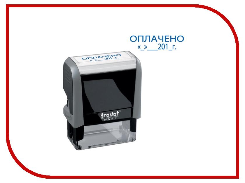 Печати и штампы 4911P4-3.13  Штамп стандартный Trodat 4911P4-3.13 слово Оплачено 231033