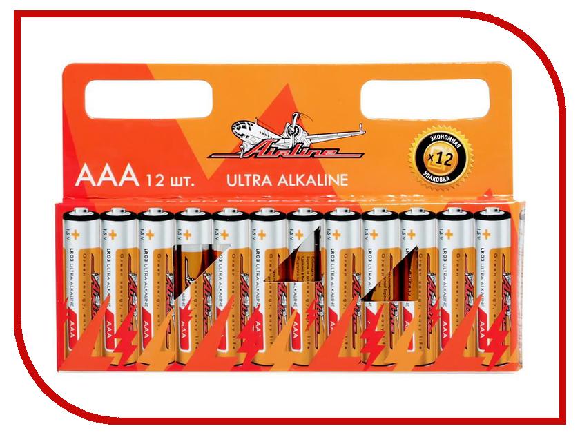 Батарейка AAA - Airline AAA-12 LR03 (12 штук) батарейка aaa smartbuy lr03 40 bulk sbba 3a40s 40 штук