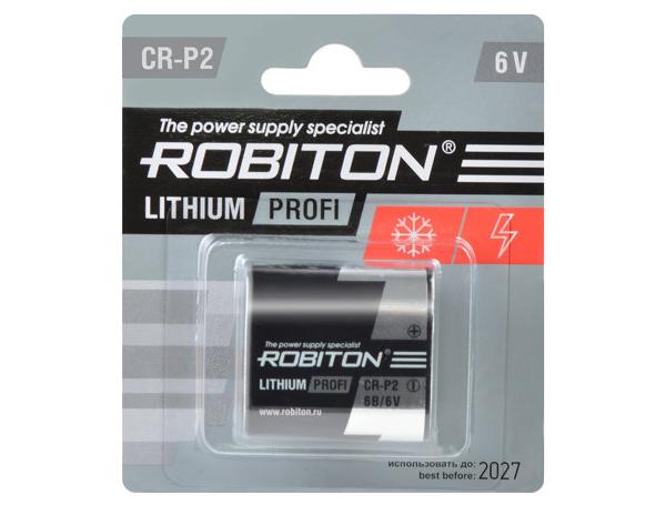 Батарейка CR-P2 - Robiton Profi CR-P2-BL1 14624 аксессуар robiton robibox bl1 супербокс для хранения аккумуляторов