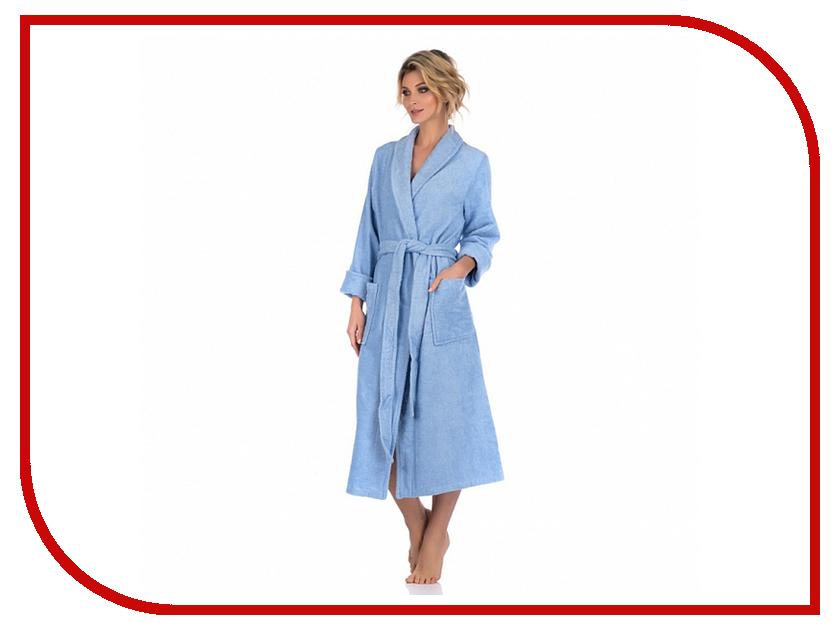Халат EvaTeks №701 р.46-48 Blue халат женский evateks цвет синий 525 размер 66 68