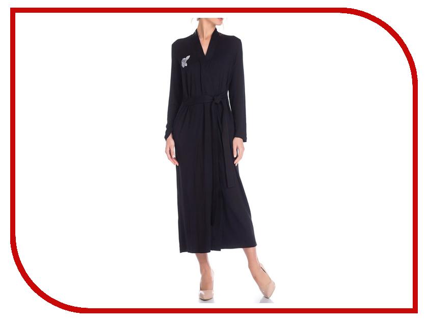 Халат Peche Monnaie №216 XXL Black платье домашнее peche monnaie цвет салатовый 219 размер xxl 52