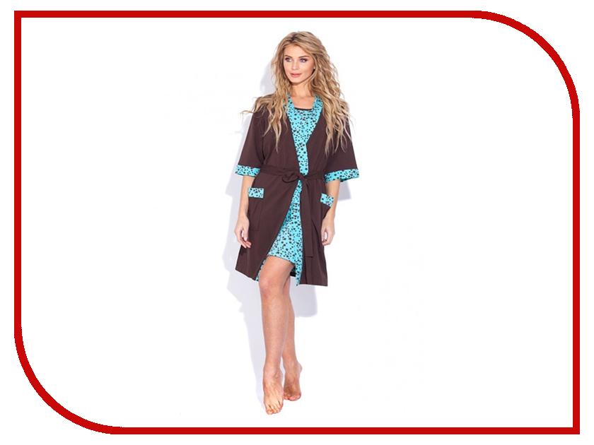 Халат EvaTeks №520 р.50-52 + ночная рубашка халат женский evateks цвет синий 525 размер 66 68