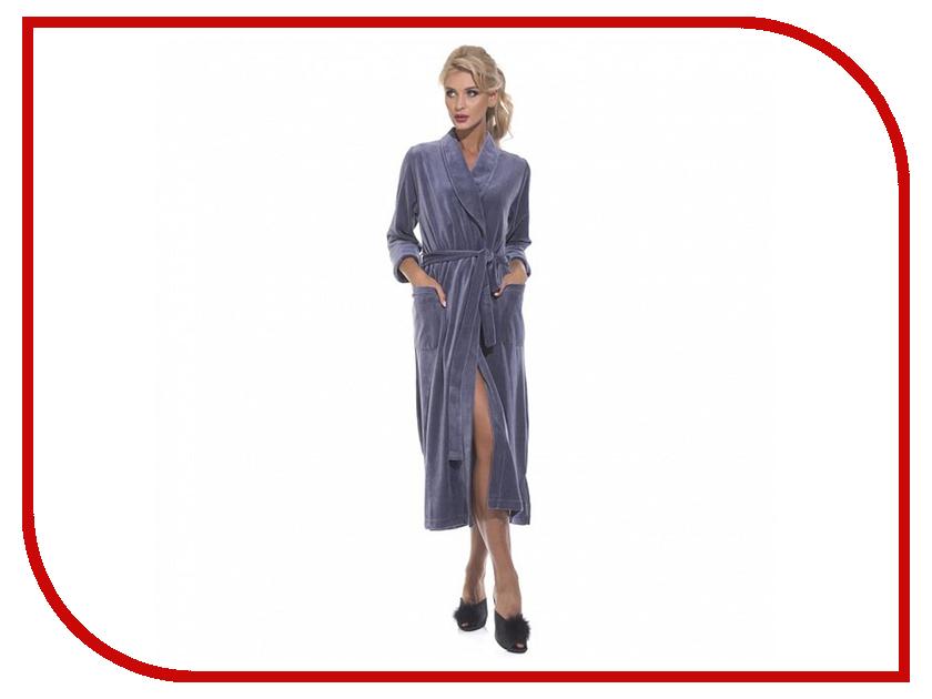 Халат EvaTeks №382 р.46-48 Smoky Blue халат женский evateks цвет синий 525 размер 66 68