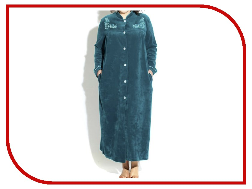 Халат Peche Monnaie №391 XXL р.54-56 Emerald платье домашнее peche monnaie цвет салатовый 219 размер xxl 52