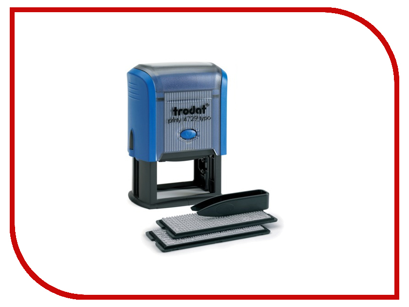 Датер самонаборный Trodat 4729 50x30mm Blue 235553 датер trodat самонаборный металлический 2стр 4мм 1 касса