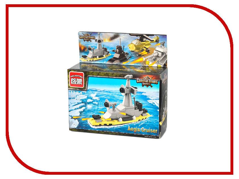 Конструктор Enlighten Brick CombatZones 1224 Крейсер с иджис-системой 48 дет. 202931 конструктор enlighten brick город 111 центр спасения мчс г13594
