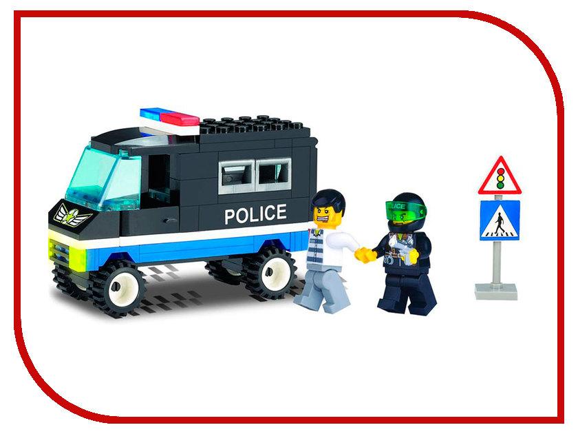 Конструктор Enlighten Brick Полиция 126 Сопровождение 87 дет. 116238 конструктор enlighten brick каток c1104 1104