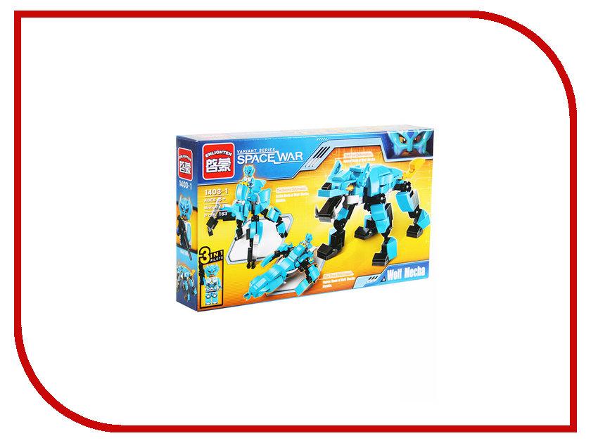 Конструктор Enlighten Brick Space War 1403-1 Волк 163 дет. 242537 enlighten 1402 8 in 1 space war warship model building block compatible legoe 683pcs diy toys for children